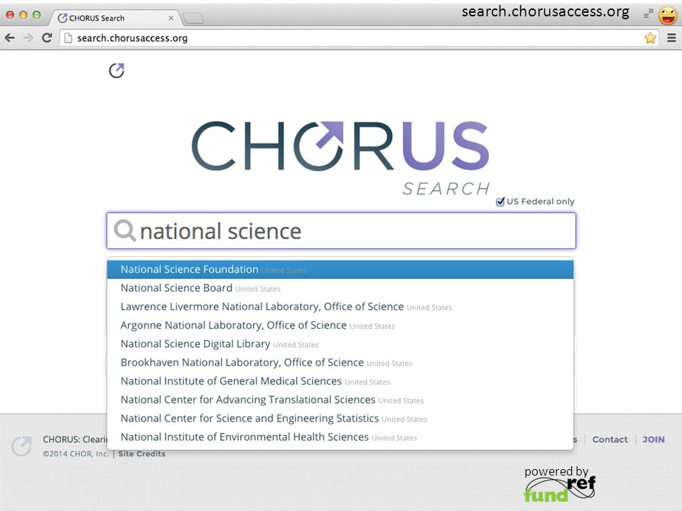 powered by search.chorusaccess.org