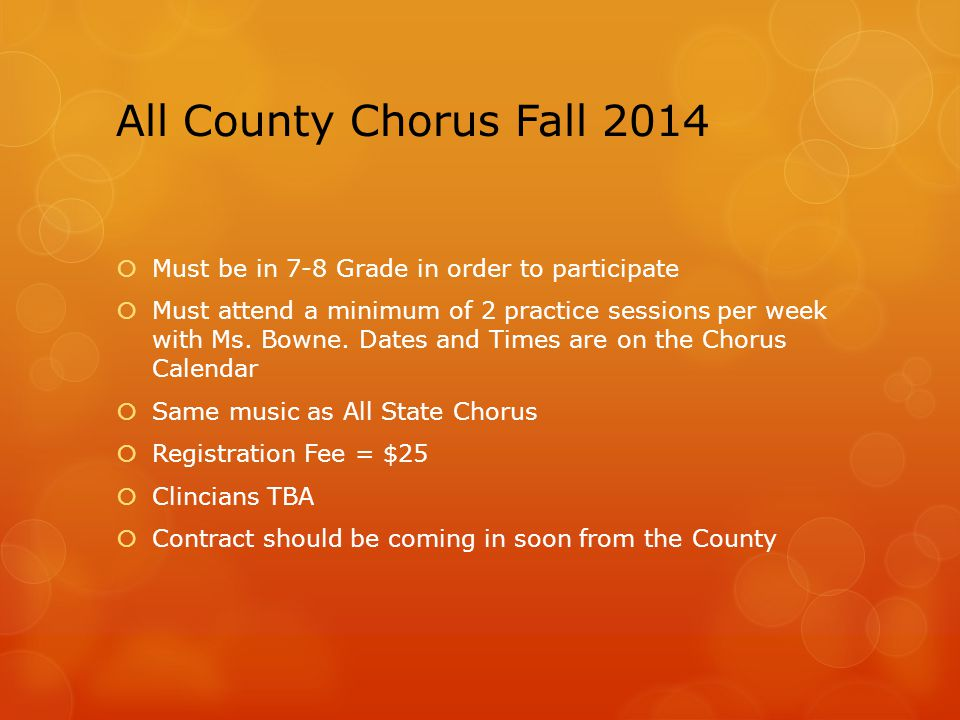 All County Dates  Transportation is NOT provided… Carpooling Schedule.