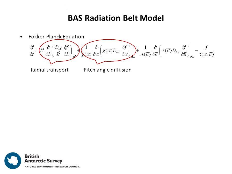Fokker-Planck Equation BAS Radiation Belt Model Radial transportPitch angle diffusion