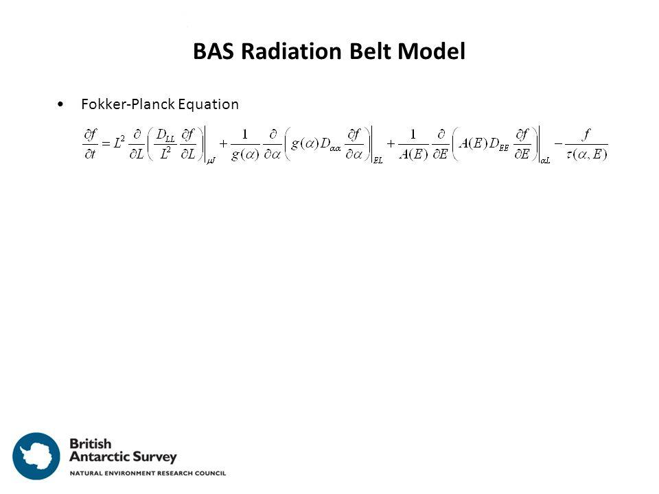 Fokker-Planck Equation BAS Radiation Belt Model