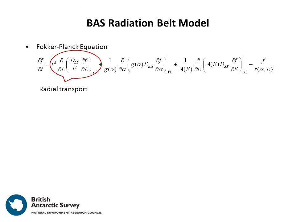 Fokker-Planck Equation BAS Radiation Belt Model Radial transport