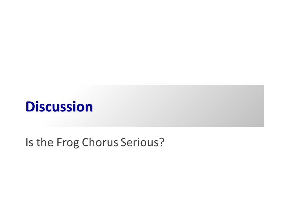 Drama in Performance Frog Chorus (pp. 51 ff.)