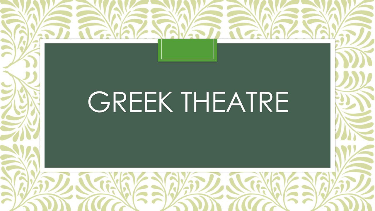 Greek Theatre Texts: 30 tragedies and 12 comedies Archeology: buildings, painted vases Festival of Dionysus- 4days Between March and April-the beginning of sailing season 10 members of the jury were voted on at the beginning of the festival.