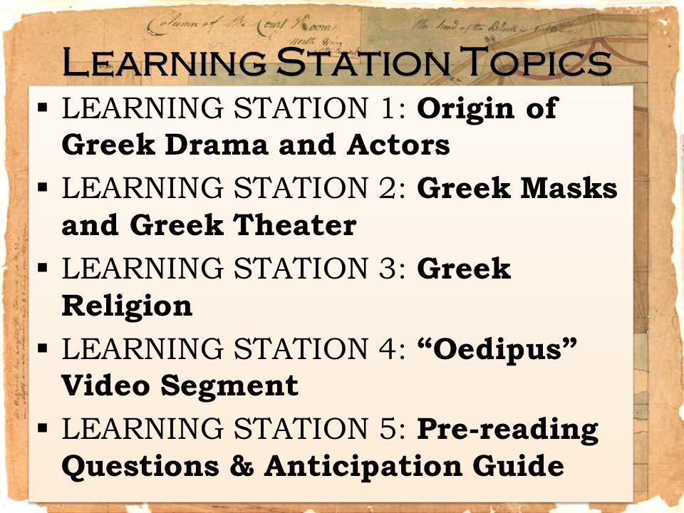 The Origins of Greek Drama 1.Where can the origins of drama be found.