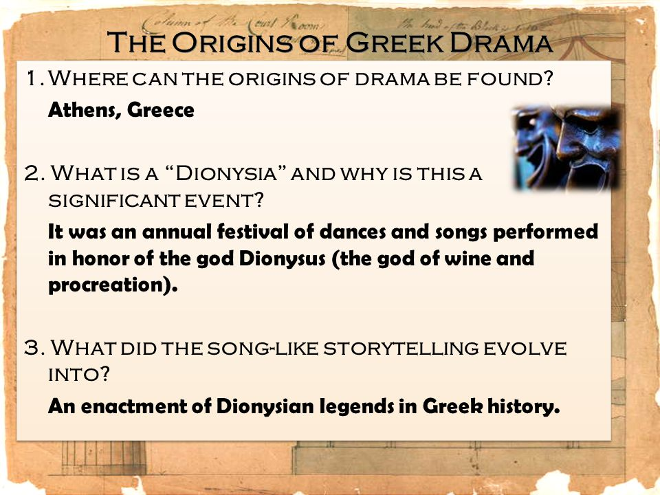 4.How were the first plays performed.