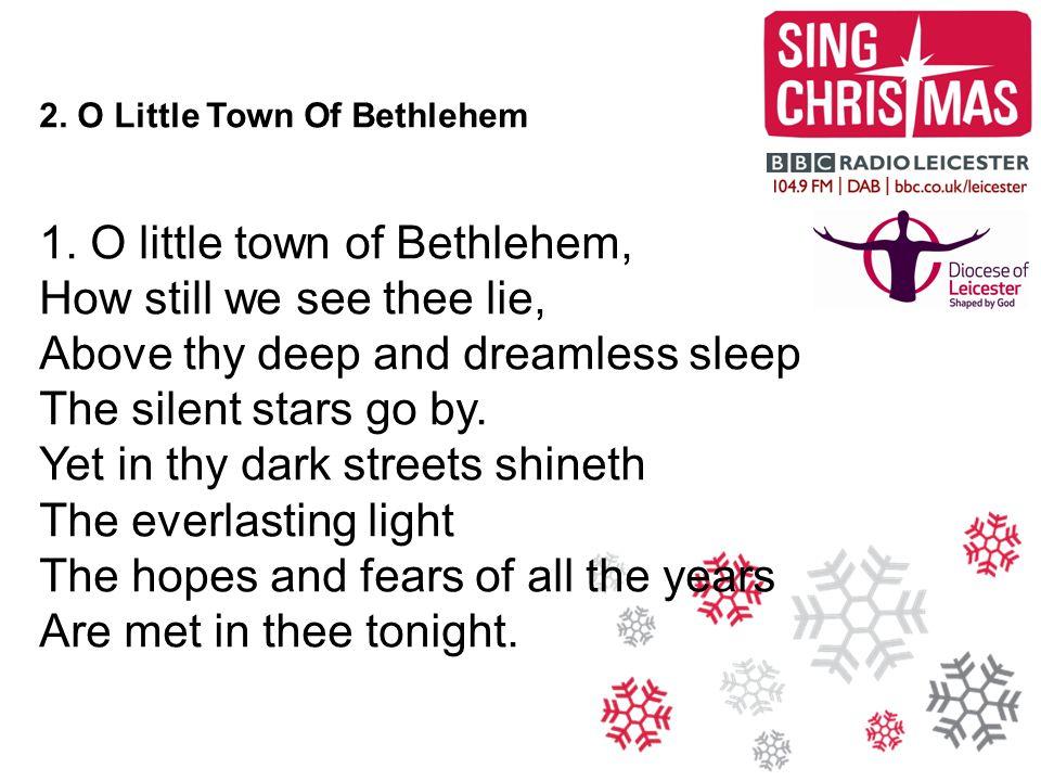 2.O Little Town Of Bethlehem 2.