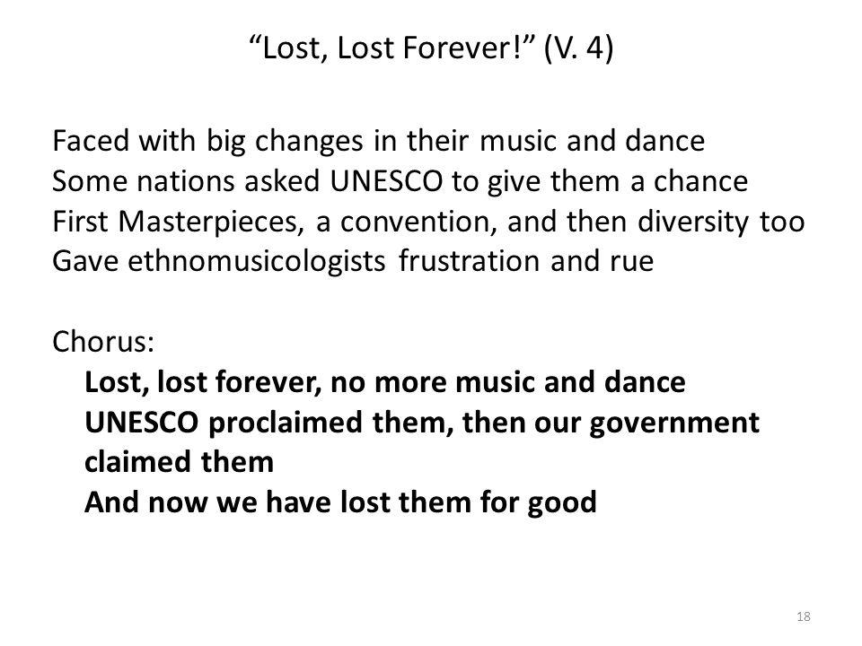 Lost, Lost Forever! (V.
