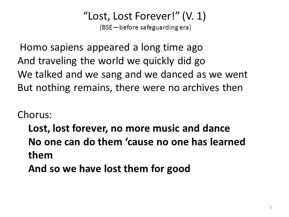 Lost, Lost Forever (v.