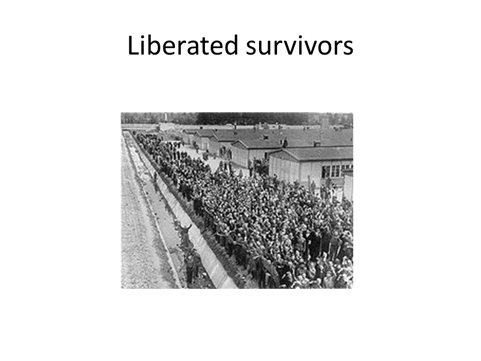 Liberated survivors