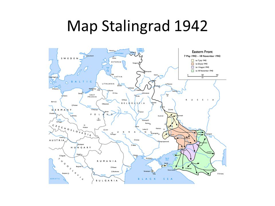 Map Stalingrad 1942