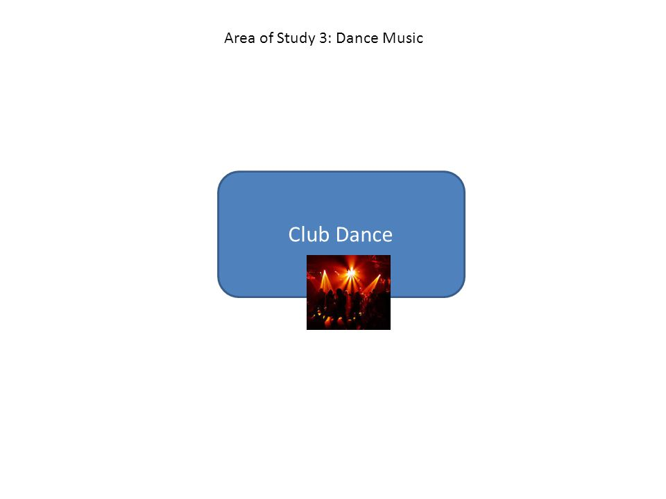 Club Dance Area of Study 3: Dance Music