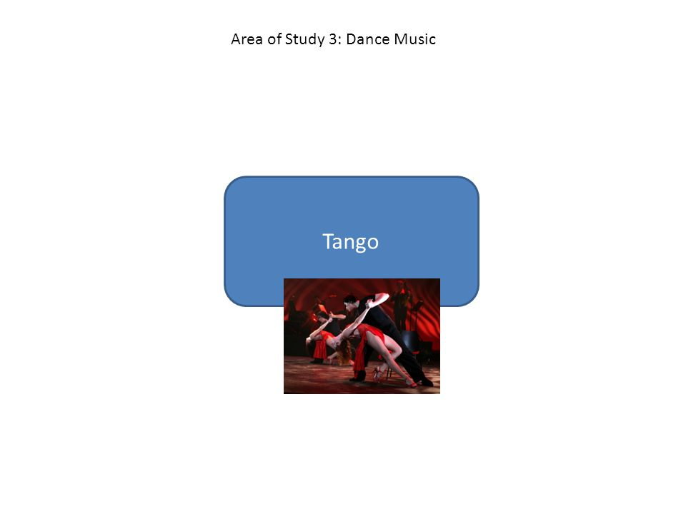 Tango Area of Study 3: Dance Music