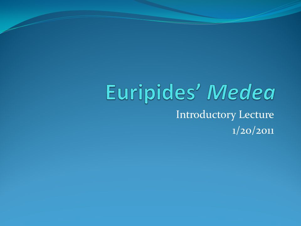 Introductory Lecture 1/20/2011