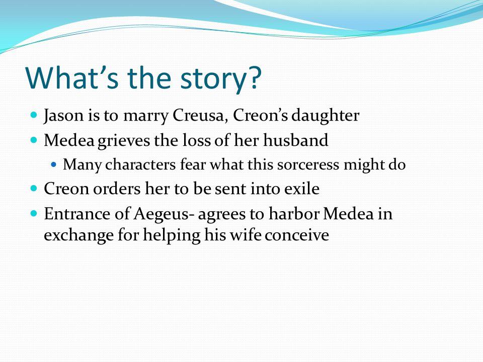 Medea's vengeance Death to Creon and Creusa.