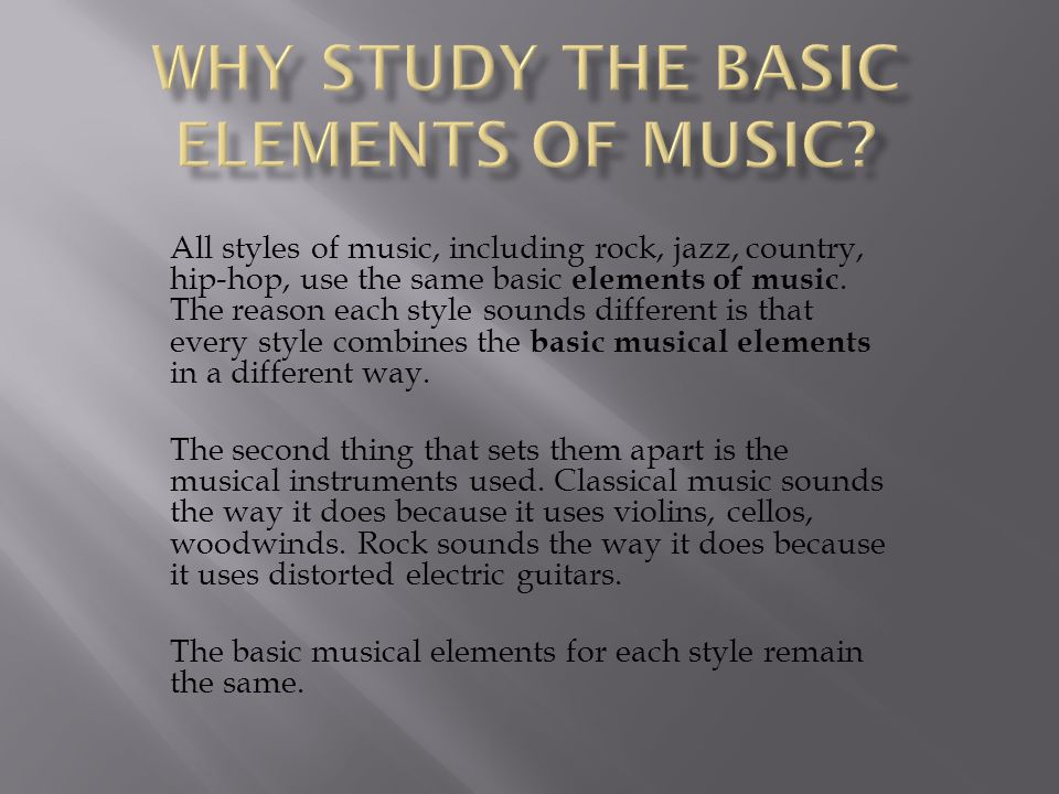 Chorus The element of the song that repeats at least once and conveys the main message or theme of the song.