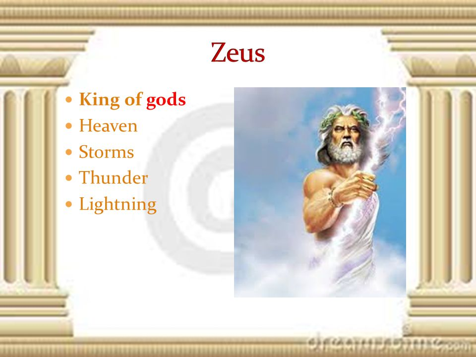 King of gods Heaven Storms Thunder Lightning