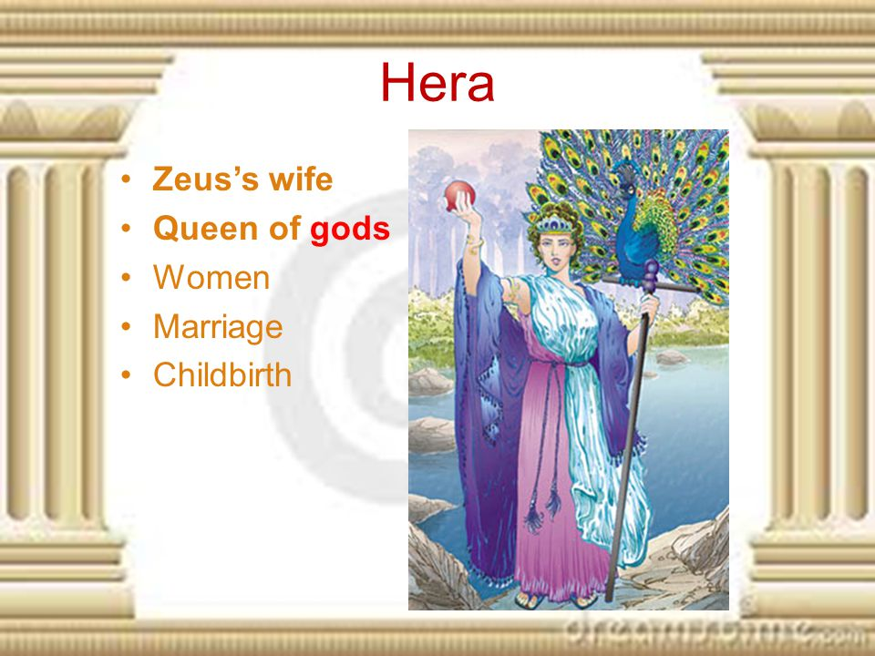 Hera Zeus's wife Queen of gods Women Marriage Childbirth