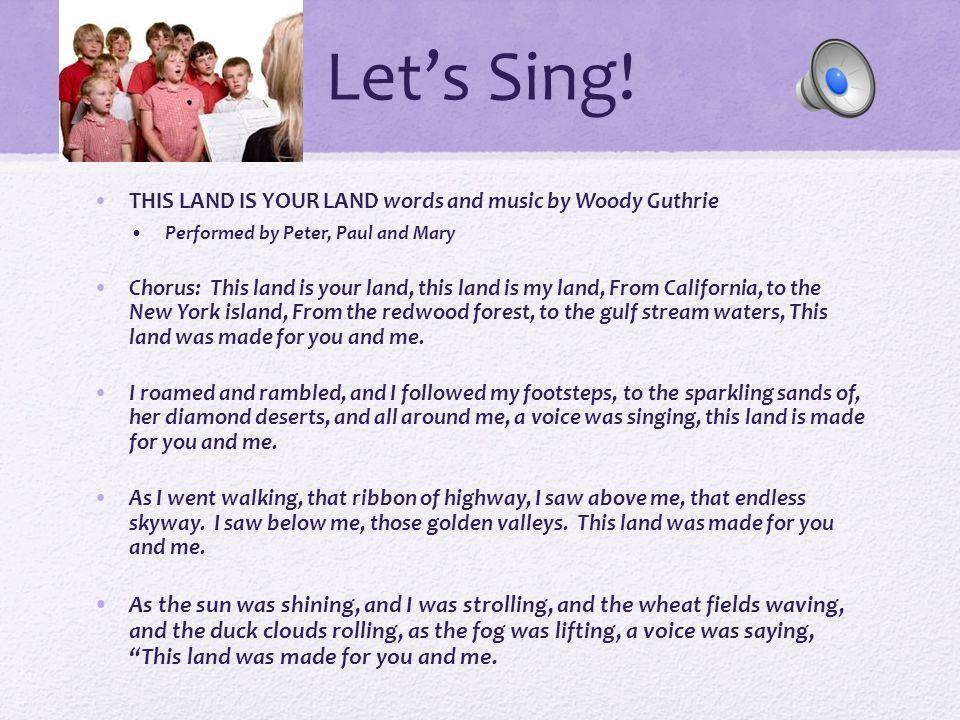 Patriotic Songs Learning patriotic songs : Kids love to sing.