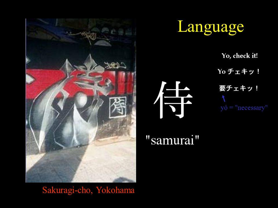 Sakuragi-cho, Yokohama Language yô = necessary
