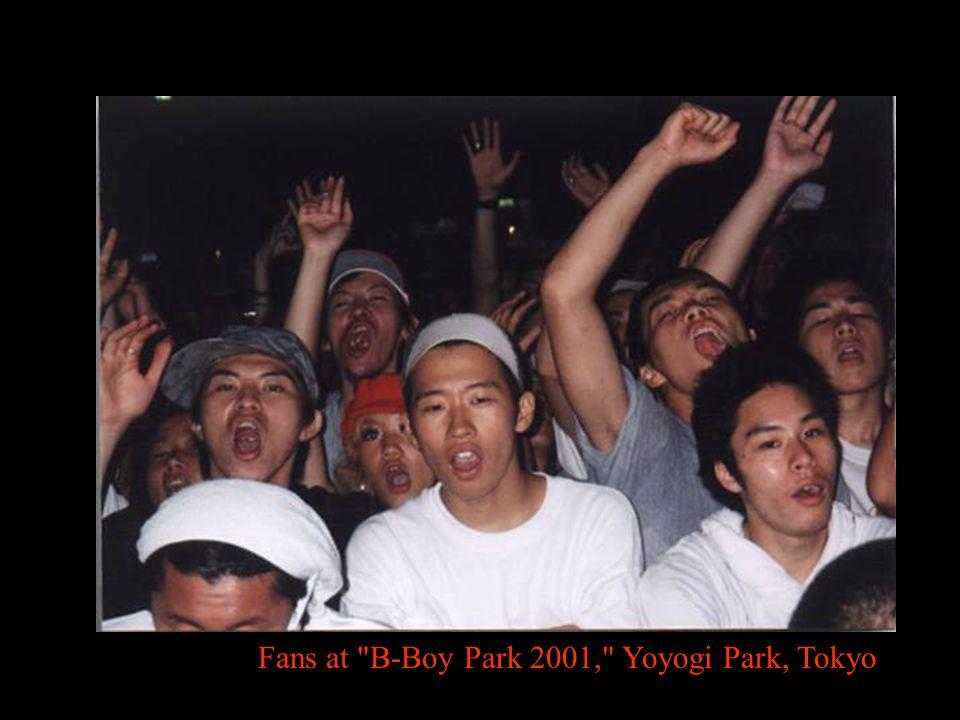 Fans at B-Boy Park 2001, Yoyogi Park, Tokyo