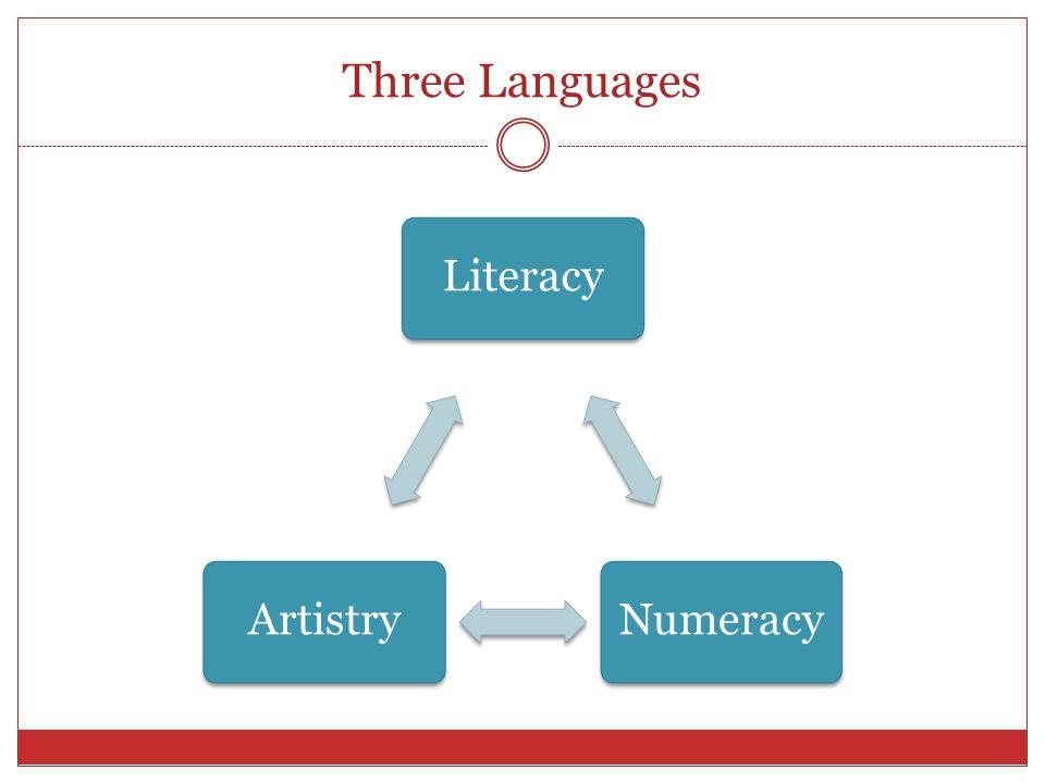 Three Languages LiteracyNumeracyArtistry