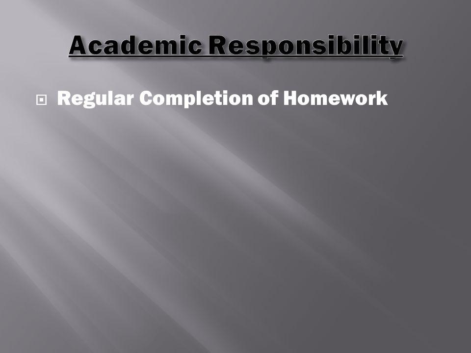  Regular Completion of Homework