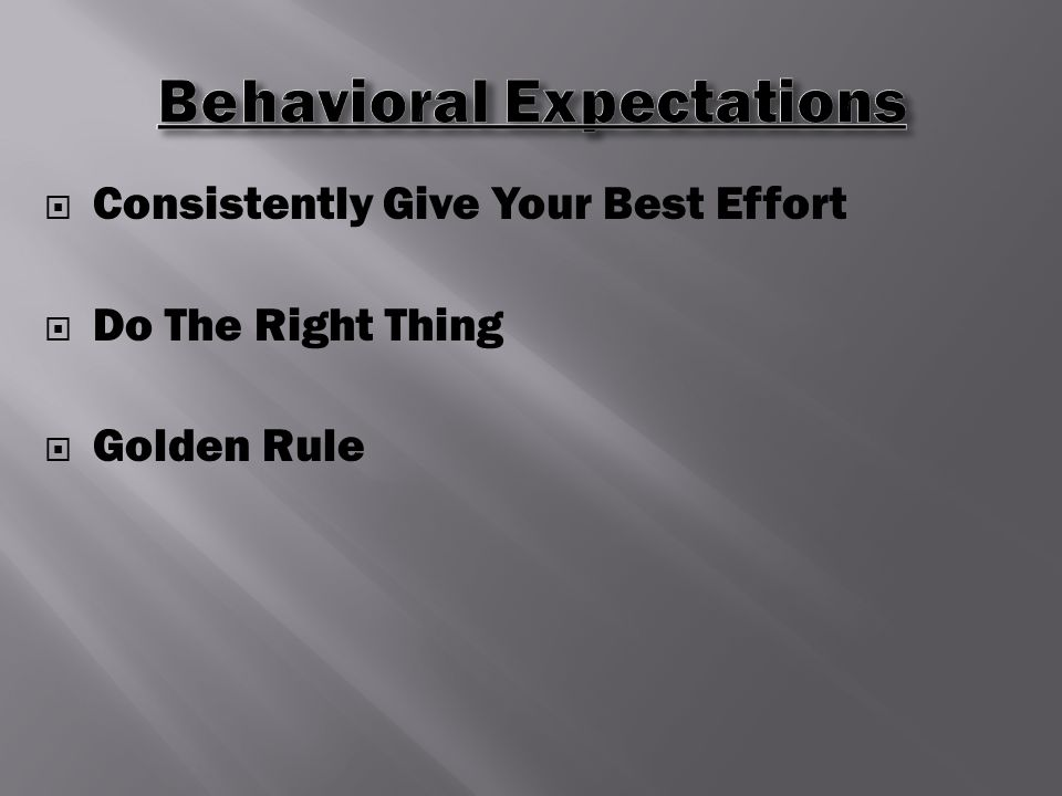 Consistently Give Your Best Effort  Do The Right Thing  Golden Rule