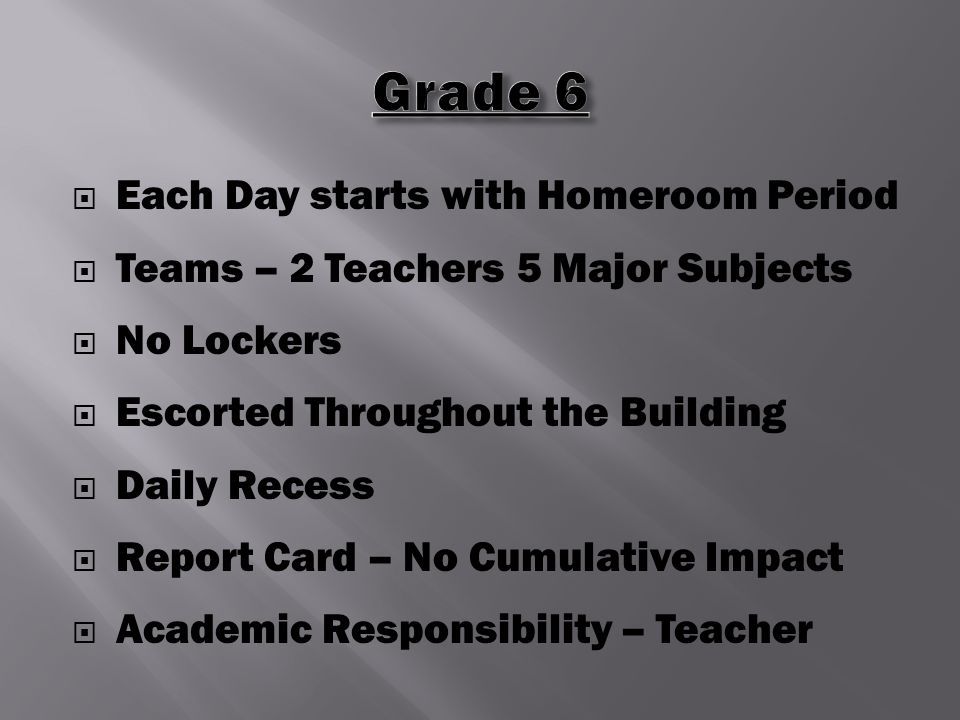  Facility – Lockers  Professional – Support Staff  Academic Rigor  High-Stakes Testing