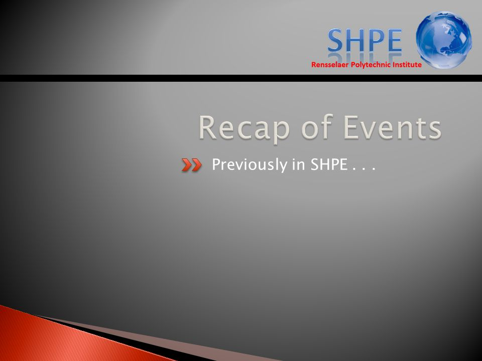 Previously in SHPE...