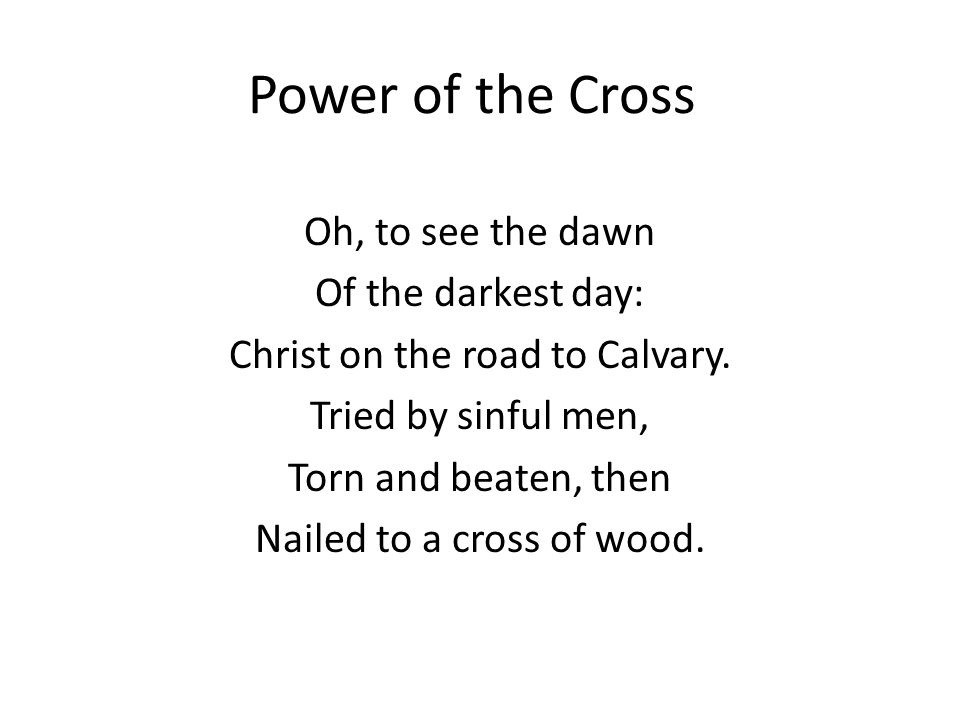 CHORUS: This, the pow r of the cross: Christ became sin for us; Took the blame, bore the wrath— We stand forgiven at the cross.