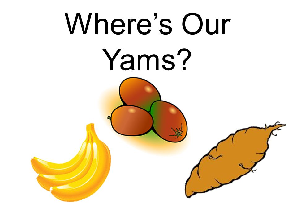 Where's Our Yams?