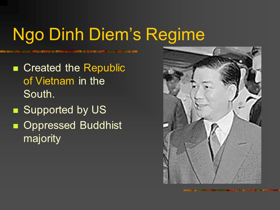 Ngo Dinh Diem's Regime Created the Republic of Vietnam in the South.