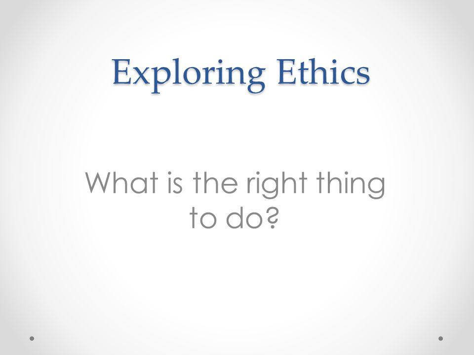 Code of Ethics Principles 1.