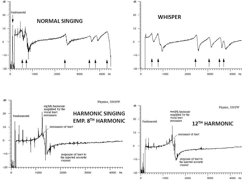 NORMAL SINGING WHISPER HARMONIC SINGING EMP. 8 TH HARMONIC 12 TH HARMONIC