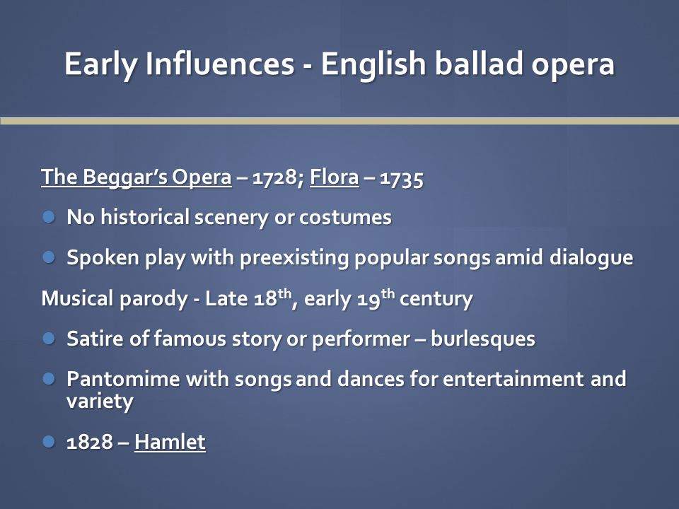 The Beggar's Opera – 1728 by John Gay & John Christopher Pepusch Music Clip Fill Every Glass