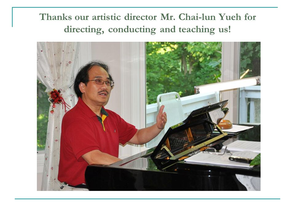 Thanks SYGQ composer Mr. Dongling Huo, librettist Mr. Wei Su for the wonderful chorale suite!