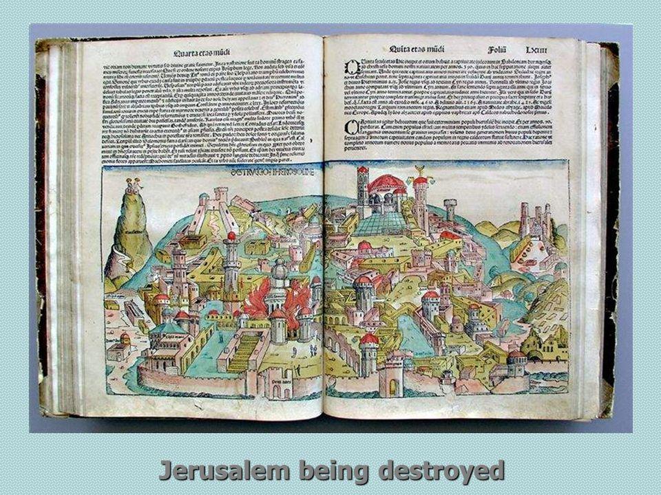 Jerusalem being destroyed