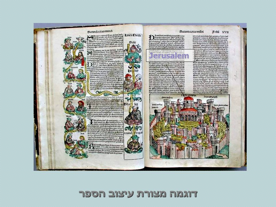 Jerusalem דוגמה מצורת עיצוב הספר