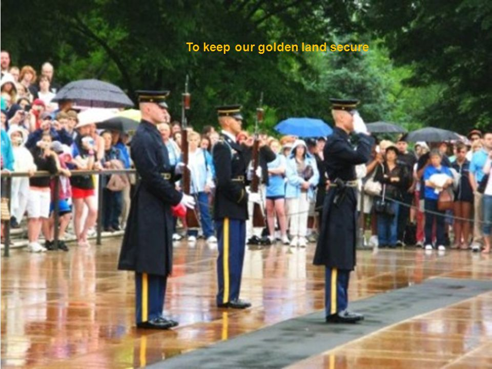 This is still the land of the free, Pictures, Jack Cross & Web Powerpoint by Jack Cross jcross002@comcast.net Soloists Anna Barnes Allison Proffitt Keith Bosher Thank You men And women serving our Ccuntry and all who served before you
