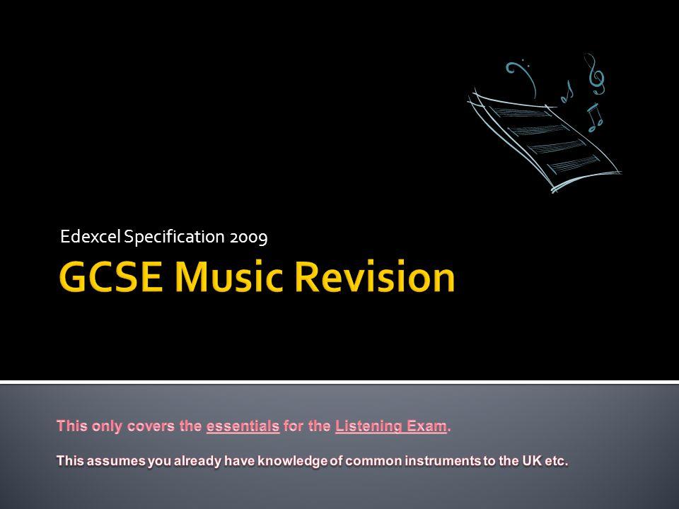 Edexcel Specification 2009