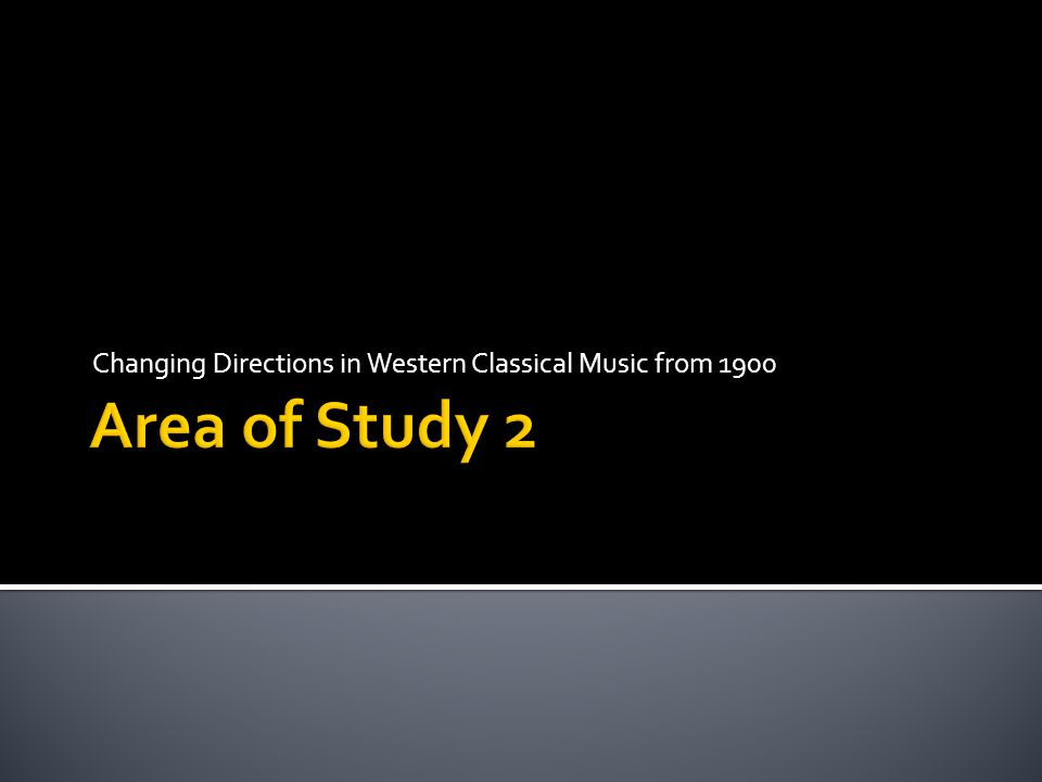 Changing Directions in Western Classical Music from 1900