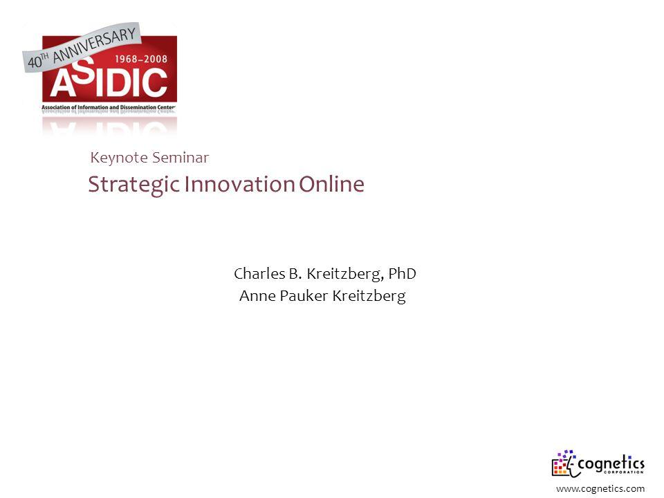 Strategic Innovation Online Anne Pauker Kreitzberg Charles B.