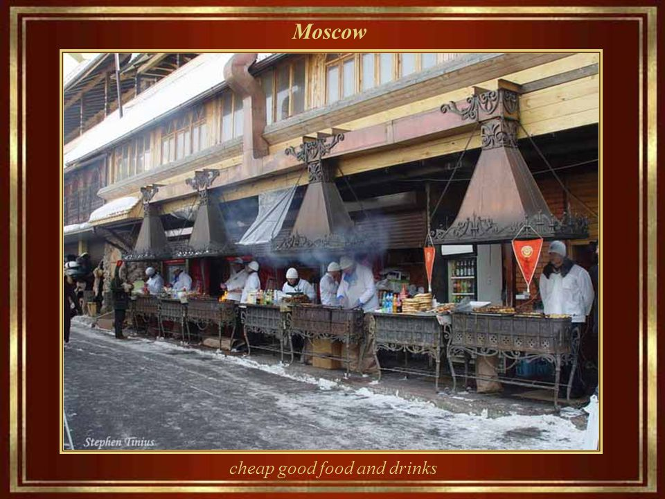 Moscow A museum, palace, or church? No! The grocery Yeliseyevsky s on Tverskaya street