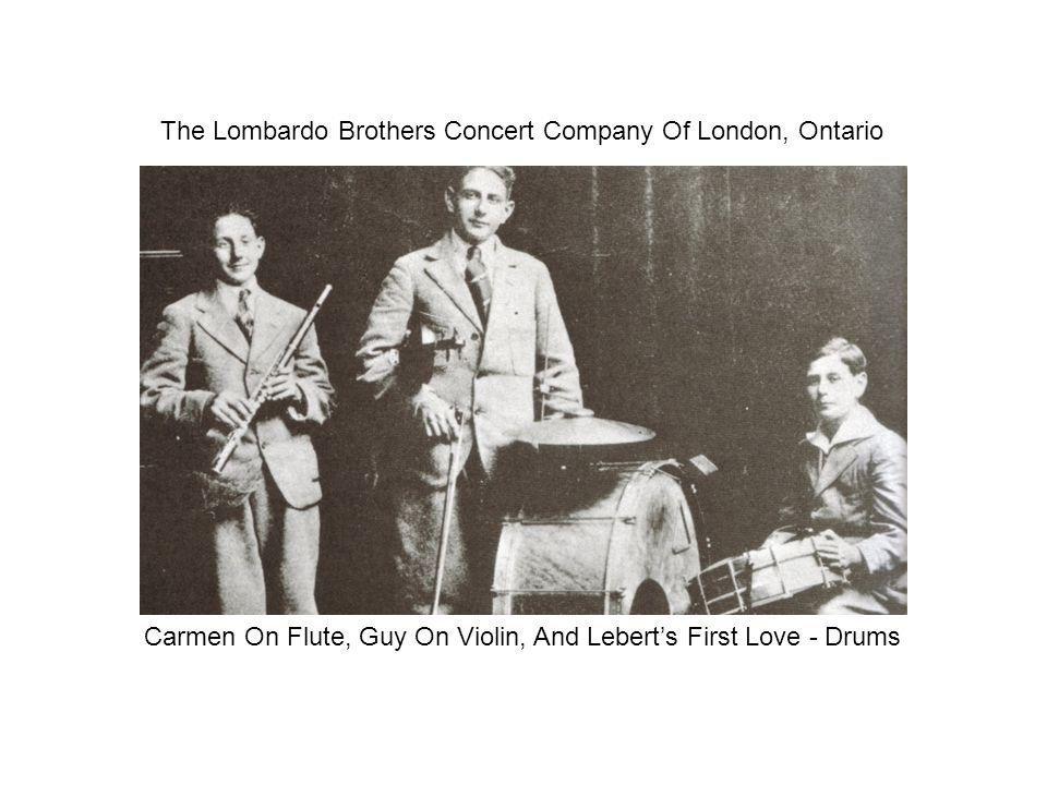 Guy Lombardo At Age 7