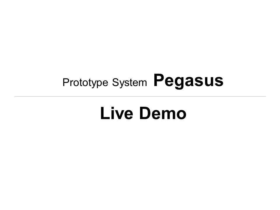 Prototype System Pegasus Live Demo