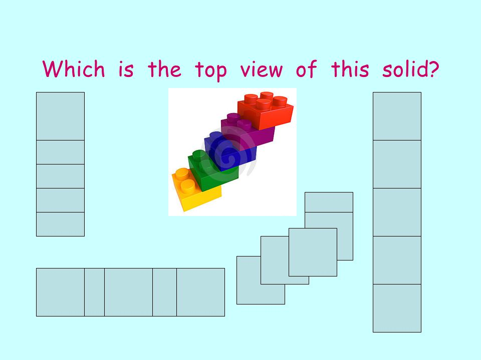Which is the top view of this solid