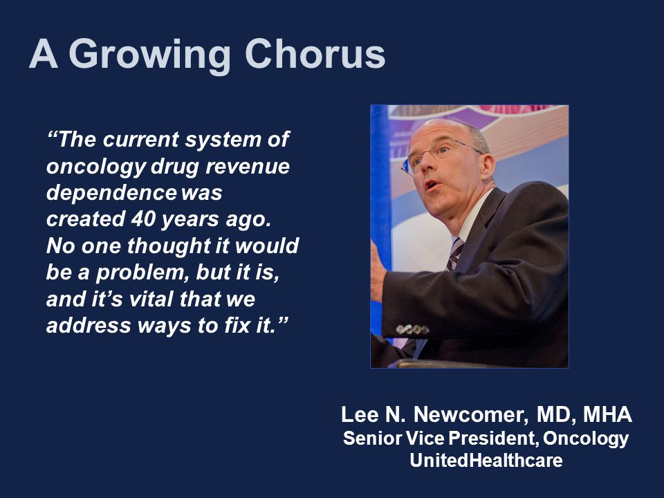 The current system of oncology drug revenue dependence was created 40 years ago.