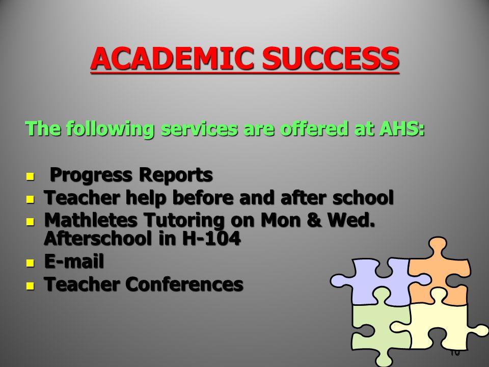 ACADEMIC SUCCESS 10