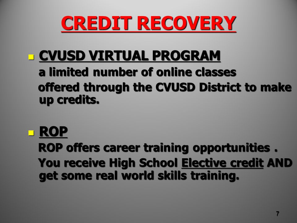CREDIT RECOVERY Mt.