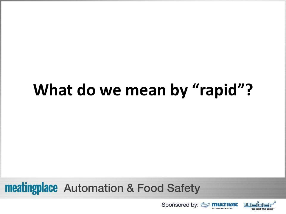 What do we mean by rapid